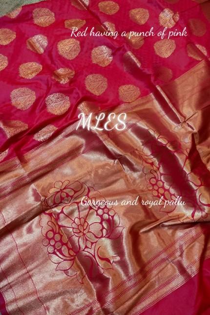 Pink Colored Beautiful Weaving Soft Silk Saree - gnp009079