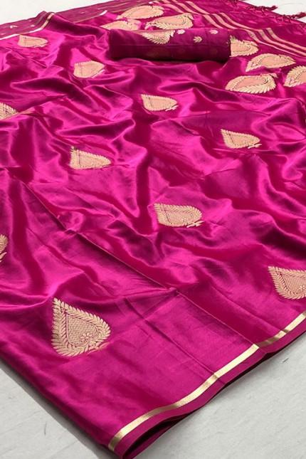 Pink Pure Silk Weaving Saree - gnp007775