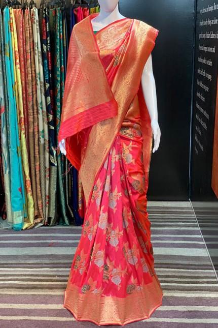 Pink Pure Silk Weaving silk Saree - gnp007623
