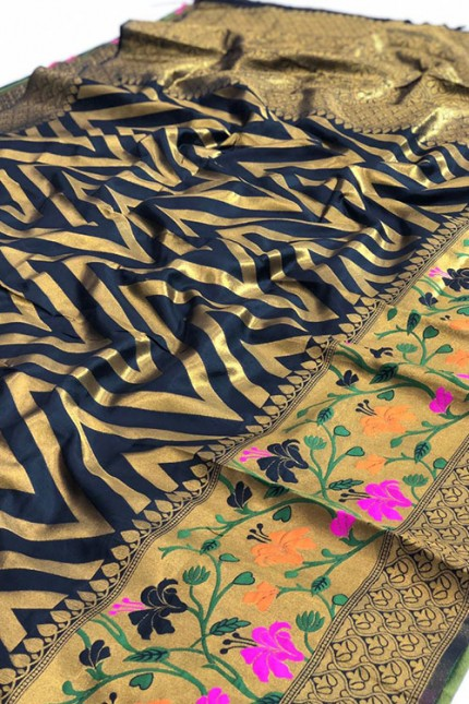 Pure Jacquard fabrics with Resham zari work with vibrant Two colours - gnp007193