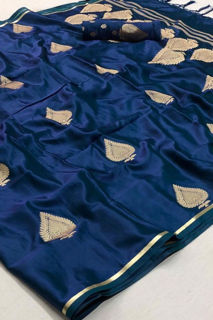 Sea Green Pure Silk Weaving Saree - gnp007777