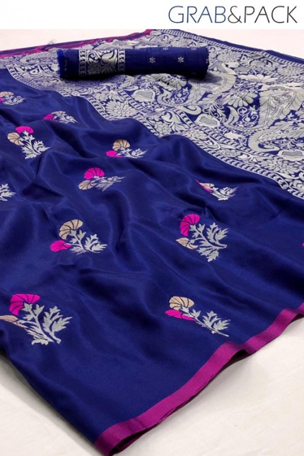 Blue Partywear saree